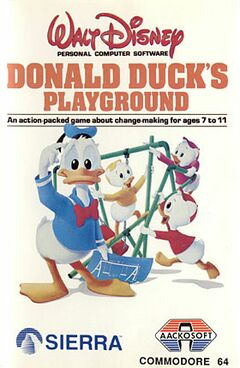 Donald Duck's Playground Frontcover mit Aackosoft Logo