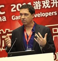 Brian Fargo 2011 auf der Messe Game Developers Conference in China