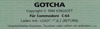 "Disketten-Label ""Gotcha!"""