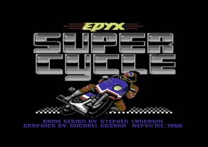 Super Cycle Titelbildschirm