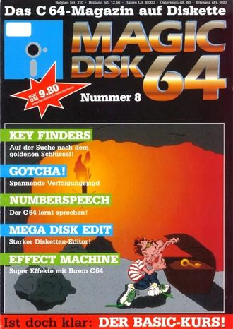 "Cover der ""Magic Disk 64"" 1989-08"